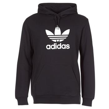 textil Herre Sweatshirts adidas Originals TREFOIL HOODIE Sort