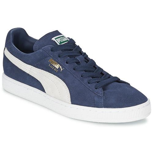 more photos dd236 967c1 Sko Lave sneakers Puma SUEDE CLASSIC Blå   Hvid