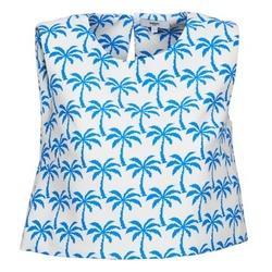 textil Dame Toppe / T-shirts uden ærmer Suncoo LANA Hvid / Blå