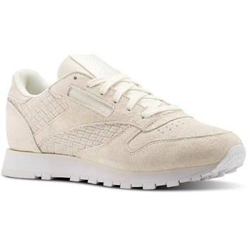 Sko Dame Lave sneakers Reebok Sport CL Lthr Woven Emb Creme