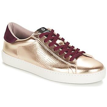Sko Dame Lave sneakers Victoria DEPORTIVO METALIZADO Guld