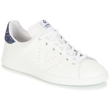 Sko Pige Lave sneakers Victoria DEPORTIVO BASKET PIEL Hvid / Blå
