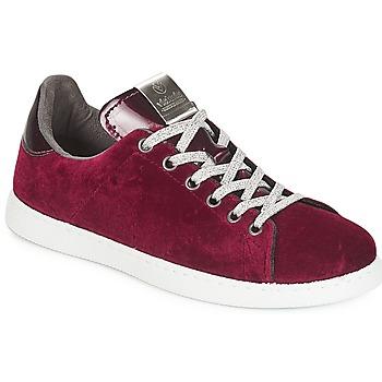 Sko Dame Lave sneakers Victoria DEPORTIVO TERCIOPELO Bordeaux