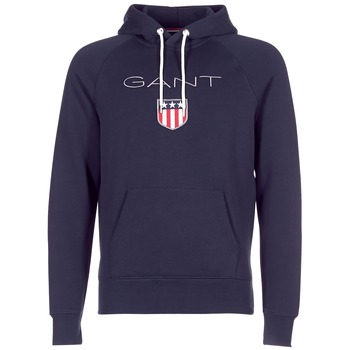 textil Herre Sweatshirts Gant GANT SHIELD SWEAT HOODIE Marineblå