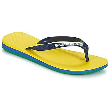 Sko Flip flops Havaianas BRASIL LAYERS Gul