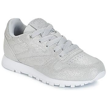 Sko Pige Lave sneakers Reebok Classic CLASSIC LEATHER C Sølv