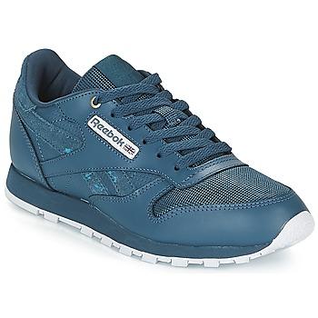 Sko Børn Lave sneakers Reebok Classic CLASSIC LEATHER J Marineblå