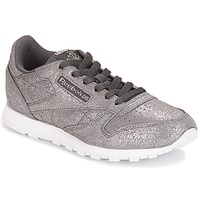 Sko Pige Lave sneakers Reebok Classic CLASSIC LEATHER J Grå / Metal