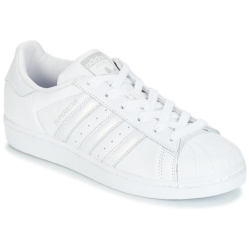 Sko Dame Lave sneakers adidas Originals SUPERSTAR W Hvid / Sølv