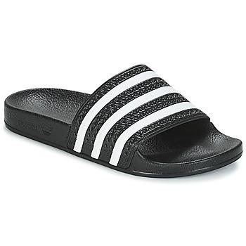 Sko Lave sneakers adidas Originals ADILETTE Sort / Hvid