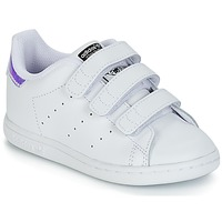 Sko Pige Lave sneakers adidas Originals STAN SMITH CF I Hvid / Sølv