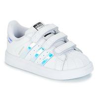 Sko Pige Lave sneakers adidas Originals SUPERSTAR CF I Hvid / Sølv