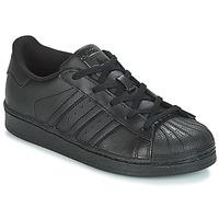 Sko Børn Lave sneakers adidas Originals SUPERSTAR C Sort