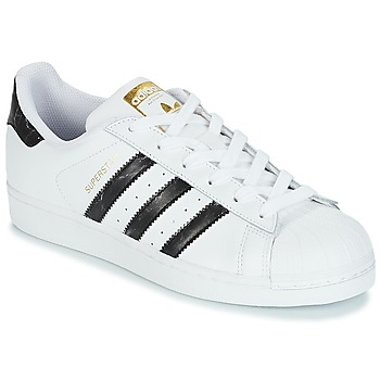 Sko Lave sneakers adidas Originals SUPERSTAR Hvid / Sort