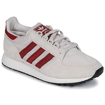 Sko Lave sneakers adidas Originals OREGON Beige / Rød