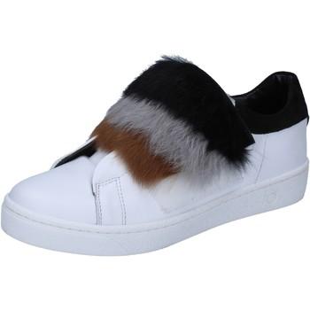 Sko Dame Sneakers Islo sneakers bianco pelle pelliccia BZ211 Bianco