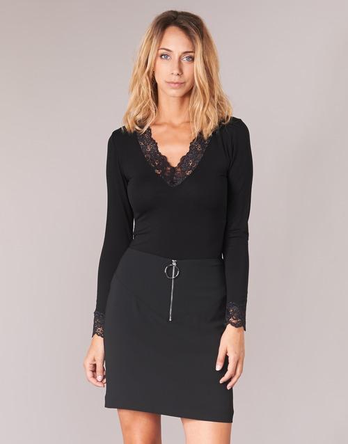 textil Dame Langærmede T-shirts Morgan TRACY Sort