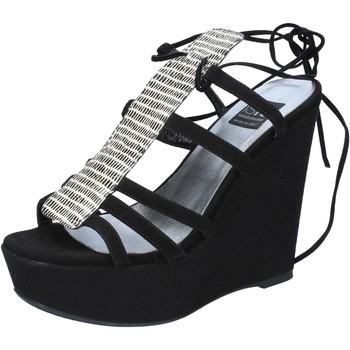 Sko Dame Sandaler Islo sandali nero camoscio BZ328 Nero
