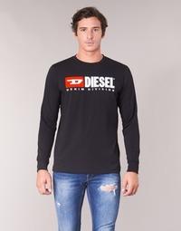 textil Herre Langærmede T-shirts Diesel T JUST LS DIVISION Sort