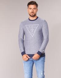 textil Herre Pullovere Guess TAMAC Blå