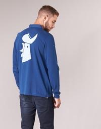 textil Herre Polo-t-shirts m. lange ærmer Serge Blanco POLO France Blå