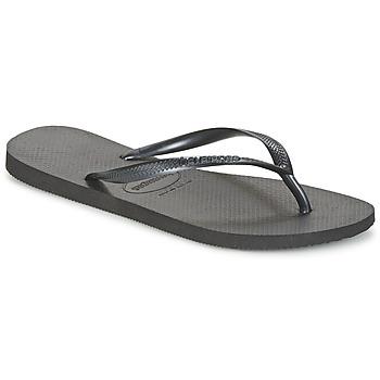 Sko Dame Flip flops Havaianas SLIM Sort