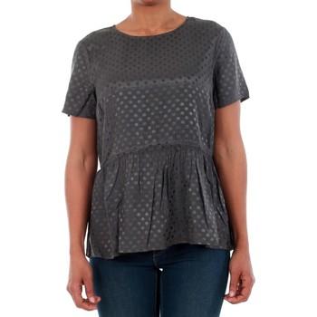 T-shirts m. korte ærmer Vero Moda  10191474 VMISOLDE TIE S/S TOP SB2 ASPHALT