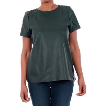T-shirts m. korte ærmer Vero Moda  10188470 VMRINA LACE BUTTER S/S TOP LCS GREEN GABLES