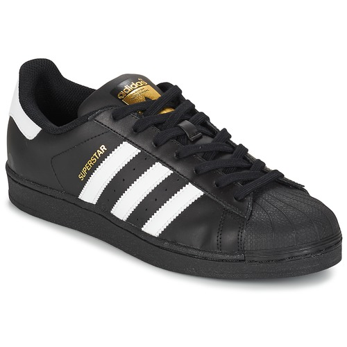 wholesale dealer 8e0d2 20c7a Sko Herre Lave sneakers adidas Originals SUPERSTAR FOUNDATION Hvid  Sort
