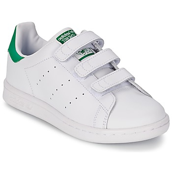 Sko Dreng Lave sneakers adidas Originals STAN SMITH CF C Hvid / Grøn