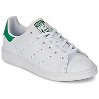 Sko Børn Lave sneakers adidas Originals STAN SMITH J Hvid / Grøn