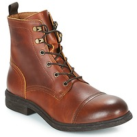 Sko Herre Støvler Selected TERREL LEATHER BOOT Cognac