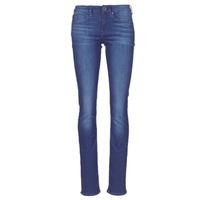 textil Dame Lige jeans G-Star Raw MIDGE SADDLE MID STRAIGHT Blå / Medium / Ældet