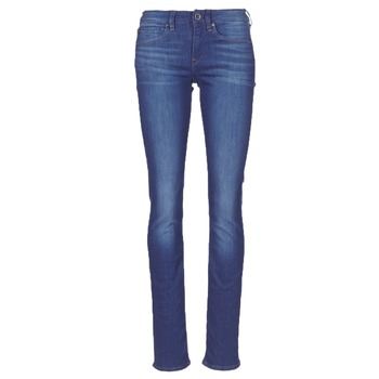 textil Dame Lige jeans G-Star Raw MIDGE SADDLE MID STRAIGHT Blå / Medium / Ældet