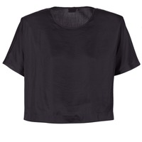 textil Dame Toppe / Bluser G-Star Raw COLLYDE WOVEN TEE Sort