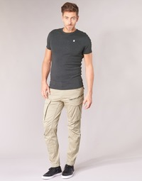 textil Herre Cargo bukser G-Star Raw ROVIC ZIP 3D STRAIGHT TAPERED Beige