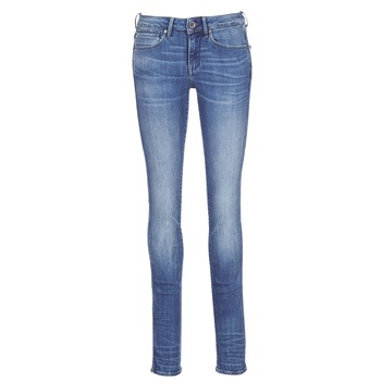 textil Dame Lige jeans G-Star Raw MIDGE MID STRAIGHT Blå / Medium / Indigo / Ældet