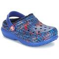Sko Børn Træsko Crocs CLASSIC LINED GRAPHIC CLOG K Blå