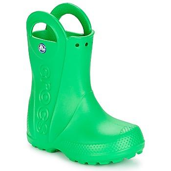 Sko Børn Gummistøvler Crocs HANDLE IT RAIN BOOT KIDS Grøn