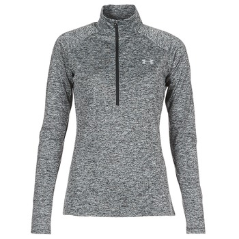 textil Dame Langærmede T-shirts Under Armour TECH 1/2 ZIP TWIST Sort