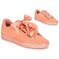 Sko Dame Lave sneakers Puma WN SUEDE HEART SATIN.DUSTY Orange