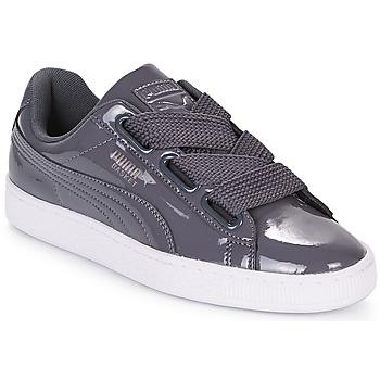 Sko Dame Lave sneakers Puma WN BASKET HEART PATENT.IRO Jern