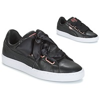 Sko Dame Lave sneakers Puma WN SUEDE HEART LEATHER.BLA Sort