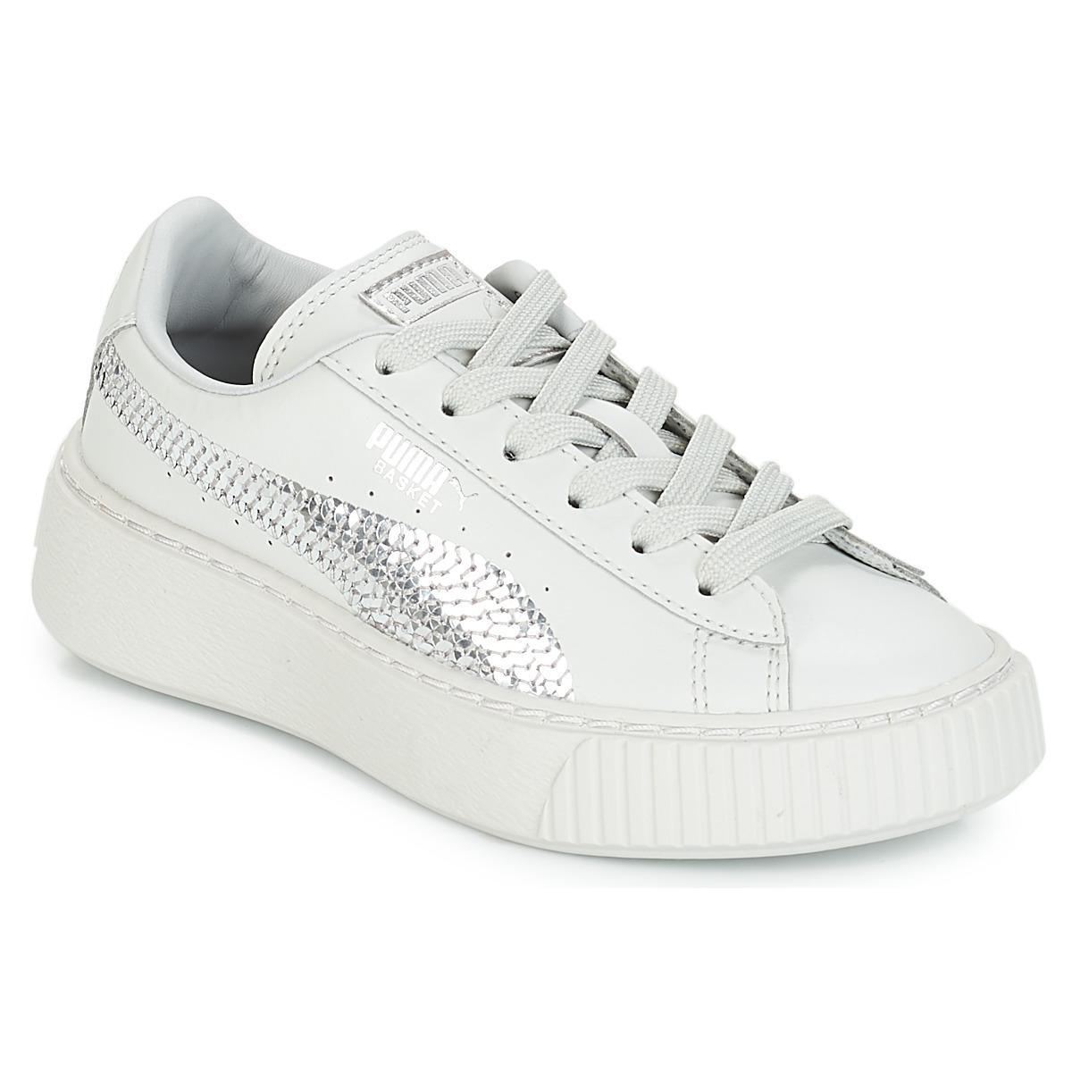 Sneakers til børn Puma  G PS B PLATFORM BLING.GRAY