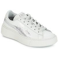 Sko Pige Lave sneakers Puma G PS B PLATFORM BLING.GRAY Grå