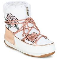 Sko Dame Vinterstøvler Moon Boot PEACE & LOVE WP Hvid / Pink / Guld