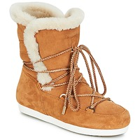 Sko Dame Vinterstøvler Moon Boot FAR SIDE HIGH SHEARLING Cognac / Hvid