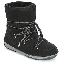 Sko Dame Vinterstøvler Moon Boot LOW SUEDE WP Sort