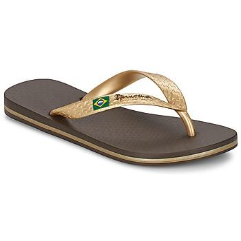 Sko Dame Flip flops Ipanema CLASSICA BRASIL II Brun / Guld