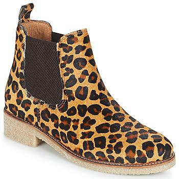Sko Dame Støvler Bensimon BOOTS CREPE Leopard